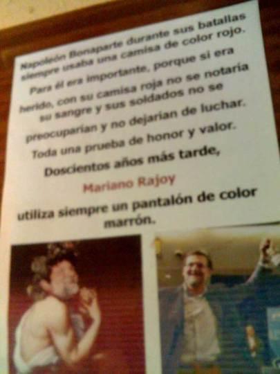 RajoyNapoleón